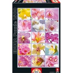 Puzzle Educa® 16302 Collage de Flores 1500 Piezas