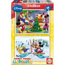 2x48 Puzzles Educa® 14207 Mickey Mouse Club House